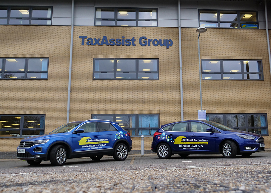 The TaxAssist Group frosted glass window